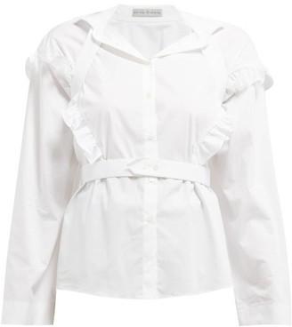Palmer Harding Palmer//harding - Trap Ruffled Cotton-blend Shirt - Womens - White