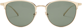 Saint Laurent Round-frame metal sunglasses