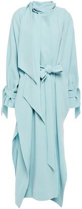 Roland Mouret Tie-detailed Wool-crepe Coat