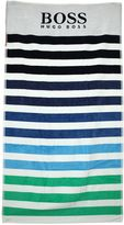 HUGO BOSS Striped Printed Cotton Sponge Towel