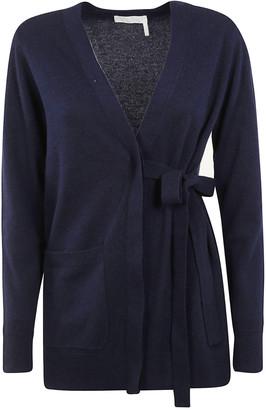 Chloé V-neck Belted Cardigan