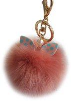 Keychains, Doinshop Faux Rabbit Fur Ball Keychain Bag Plush Car Key Ring