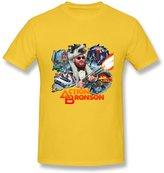 HUBA Design HUBA Men's T Shirt Action Bronson Yellow Size L