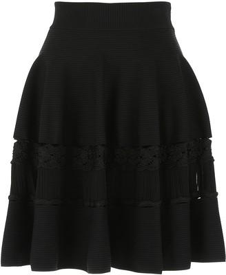 Alexander McQueen High-Waisted Flared Skirt