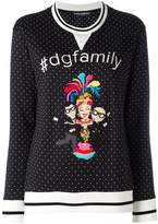 Dolce & Gabbana Family print polka-dot sweater