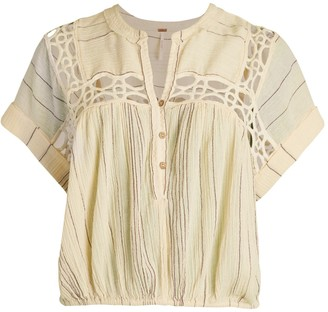Free People Cedar Lace Stripe Pullover
