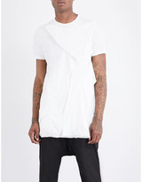 Rick Owens Drkshdw Drkshdw Draped Cotton-jersey T-shirt