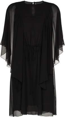 See by Chloe ruffle sheer sleeve mini dress