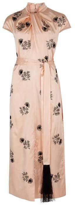 Erdem Finn Embellished Satin Dress