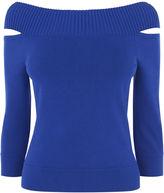 Karen Millen Shoulder-detail Jumper - Blue