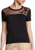 RED Valentino Ladybug Embroidered Tee