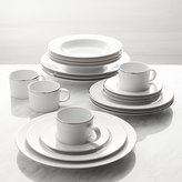 Crate & Barrel Maison Platinum Rim 20-Piece Dinnerware Set