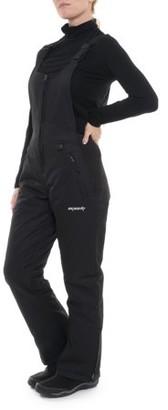 Ski Gear SkiGear by Arctix Women's Essential Snow Bib Overall Pant, Black, Xlarge