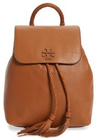 Tory Burch Taylor Leather Backpack - Brown
