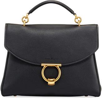Salvatore Ferragamo Margot Medium Leather Top-Handle Bag
