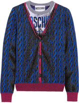 Moschino Intarsia Wool Sweater - Blue