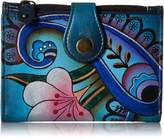 Anuschka Anna By Anna by Hand Painted Leather Ladies Wallet | Denim Paisley Floral