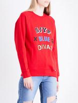 SteveJ & YoniP Steve J & Yoni P Logo-print cotton-jersey sweatshirt