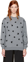 McQ by Alexander McQueen Grey Micro Swallow Sweatshirt