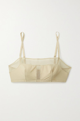 Eres Resille Mesh-trimmed Stretch-jersey Soft-cup Bra - Beige