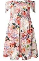 Dorothy Perkins Womens DP Curve Plus Size Multi Coloured Bardot Fit And Flare Dress- Multi Colour