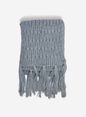 Dorothy Perkins Womens Grey Chunky Knitted Scarf, Grey