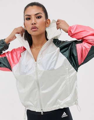 adidas Training Colourblock Jacket-White