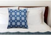 Bungalow Rose Buntingford Lattice Decorative Indoor/Outdoor Throw Pillow Color: Blue
