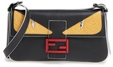 Fendi 'Mini Monster' Leather Baguette - Black