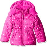 Pink Platinum Toddler Girls' Printed Foil Star Puffer Jacket