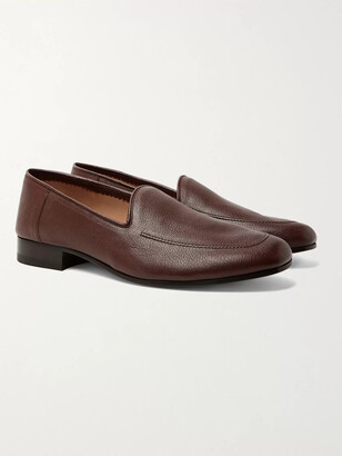 The Row Full-Grain Leather Loafers