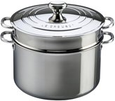 Le Creuset Stockpot with Lid & Deep Colander Insert - Stainless Steel