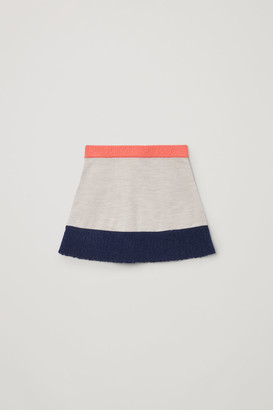 Cos Colour-Block Knitted Skirt