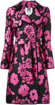 Milly floral print trench coat - women - Silk/Polyester/Spandex/Elastane - 2