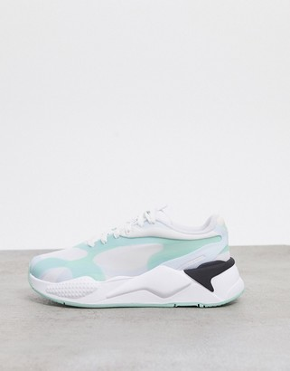 Puma RS-X3 sneakers in green and black