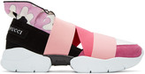Emilio Pucci Pink Colorblock Slip-on Sneakers