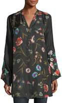 Johnny Was Lentino Floral-Print Tunic, Plus Size