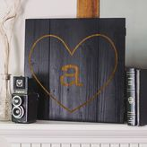 Cathy's Concepts Cathys concepts Personalized Black Rustic Heart Wood Wall Art