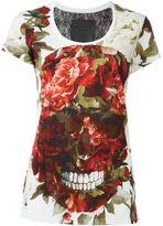 Philipp Plein floral skull print T-shirt