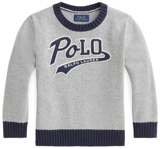 Ralph Lauren Kids Logo Crew-Neck Sweater (5-7 Years)