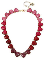 Betsey Johnson Hearts And Arrows Glitter Heart Collar