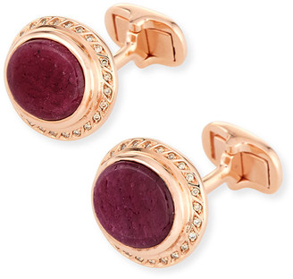 Marco Dal Maso Ruby Sapphire & Diamond Cufflinks in 18K Rose Gold