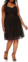 Boutique + Ashley Nell Tipton for + Sleeveless Fit & Flare Dress-Plus