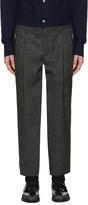 Kolor Grey Wool Zip Trousers