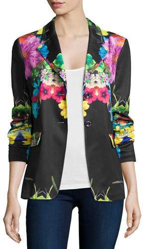 Berek Flower Pop Two-Button Jacket, Petite