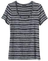 Banana Republic Stripe Soft Jersey Scoop
