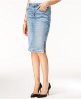 GUESS Zip-Detail Denim Pencil Skirt