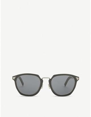Christian Dior Black Striped Tailoring 1 Square-Frame Sunglass