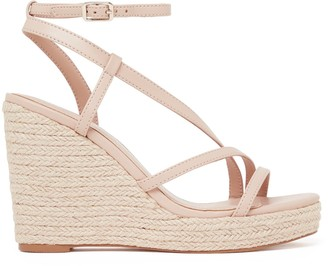 Forever New Ally Asymmetric Espadrille Wedges - Nude - 36