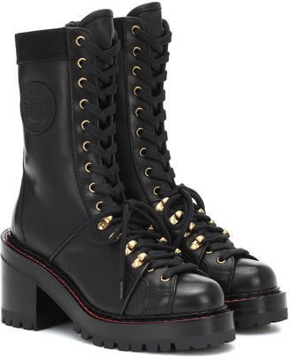 Versace V-Alpine leather ankle boots